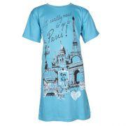 Fun2wear meisjes bigshirt korte mouw 'Parijs' blue